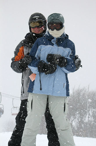 Phil and Liza on top of mountain
