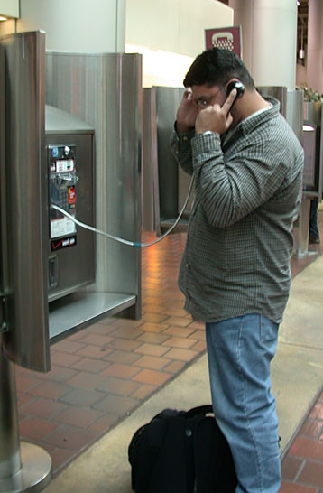 Danny calling my cell from Union Station