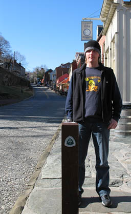 Matt on the AT in Harpers Ferry WV