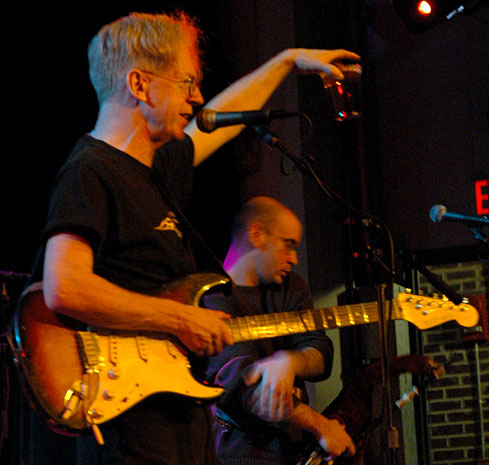 Larry Kirwin salutes the crowd at the State Theatre in Falls Church VA
